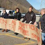 Manifestation à Merens